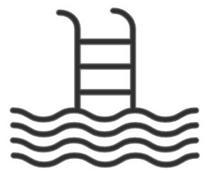 Symbol Kneippbecken, Ferienwohnungen Sankt Englmar